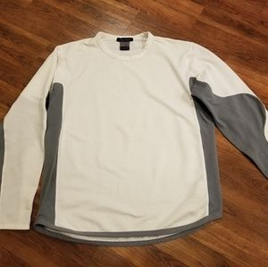 NIKE Sphere White and Grey Long Sleeve Top